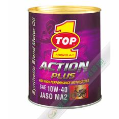 Nhớt Cao Cấp Cho Xe May Mo To Pkl Top 1 Action Plus 10W40 1L Rẻ