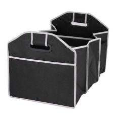 oppoing 3 Compartment Collapsible Car Trunk Organizer for SUV Truck Cargo Storage, Black - intl