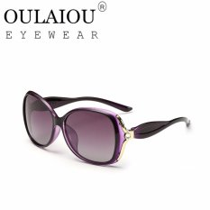 Oulaiou Women's Fashion Accessories Anti-UV Glasses Trendy Reduce Glare Sunglasses O7015 - Intl Giá