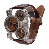 Giá Bán Oulm Men S Watch With Brown 3 Movt Dial Brown 23Mm Stainless Steel Band Nguyên Vakind