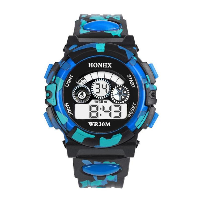 Nơi bán Outdoor Multifunction Waterproof  Sports Electronic Watches (Blue) - intl