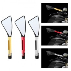 Pair Of 8Mm 10Mm Cnc Aluminum Rear View Side Mirrors Universal For Motorcycle Red Intl Rẻ