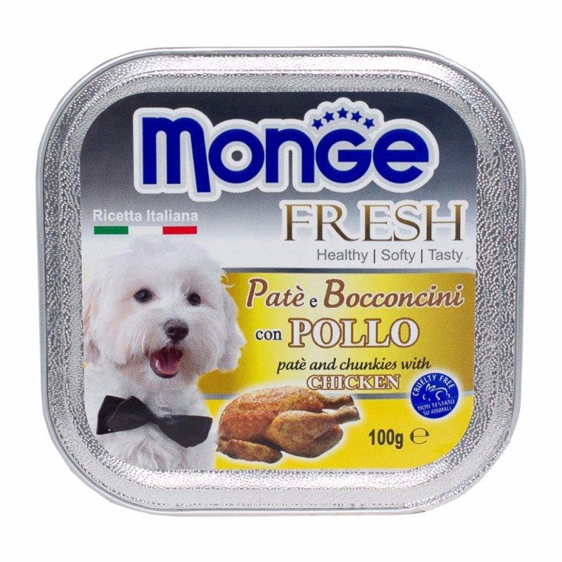 Pate cho chó cưng vị gà thương hiệu Monge của Ý