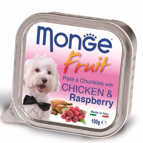 Pate bổ sung dưỡng chất cho chó vị gà & dâu rừng Monge Chicken Raspberry (Ý)