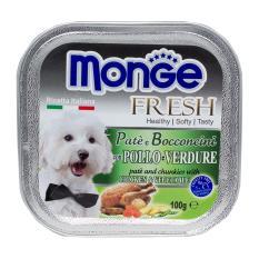 Pate Bổ Sung Dưỡng Chất Cho Chó Từ Gà & Rau Monge Chicken Vegetable By Oh Mypet Pet Shop.