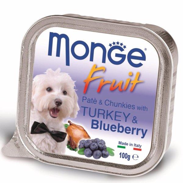 Pate bổ sung dưỡng chất cho chó từ gà tây & việt quất Monge Turkey Blueberry (Mỹ)