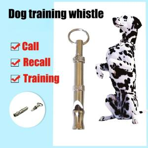 Hình ảnh Pet Adjustable Whistle UltraSonic Sound with Keychain Training Whistle - intl