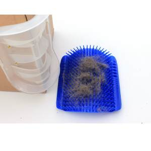 Hình ảnh Pet cat Self Groomer Grooming Tool Hair Removal Brush Comb for Dogs Cats Hair Shedding Trimming Cat Massage Device with catni,Blue - intl