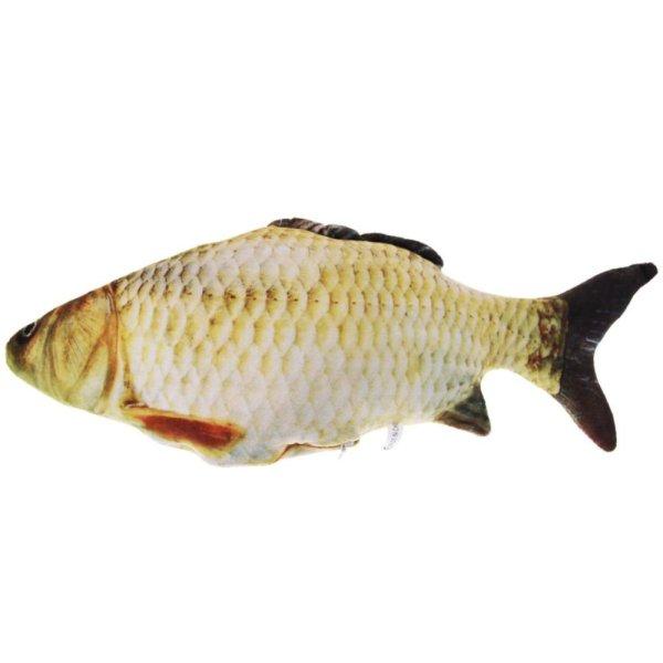【companionship】(Giao hàng miễn phí cho cả ba chiếc đến Hà Nội)Pet Cat Stuffed Fish Interactive Play Chewing Rattle Scrat Toys  (S) - intl (Yellow)