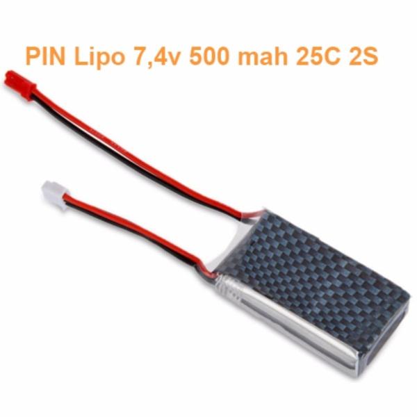 PIN lipo 500mah 7.4V 25C 2S