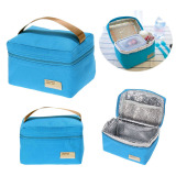 Portable Insulated Thermal Cooler Bento Lunch Box Tote Picnic (Blue)(Intl)