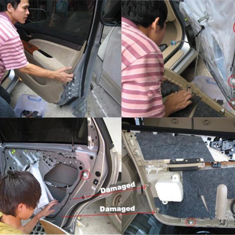 10 chốt đa năngbằng nhựa dùng thay thế, sữa chữa xe hơi