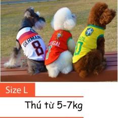 Hình ảnh Quần áo cho chó mèo - áo fan bóng đá - quần áo chó mèo 001 Size L