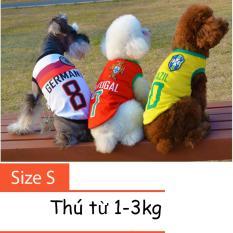 Hình ảnh Quần áo cho chó mèo - áo fan bóng đá - quần áo chó mèo 001 Size S