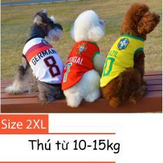 Hình ảnh Quần áo cho chó mèo - áo fan bóng đá - quần áo chó mèo 001 Size XXL
