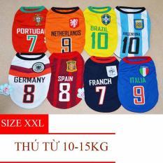 Hình ảnh Quần áo cho chó - Quần áo cho mèo - Áo Fan bóng đá (có 9 Size) - Size XXL