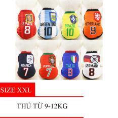 Hình ảnh Quần áo thú cưng - Áo Fan bóng đá (có 9 Size) - Quần Áo 001- Size 2XL