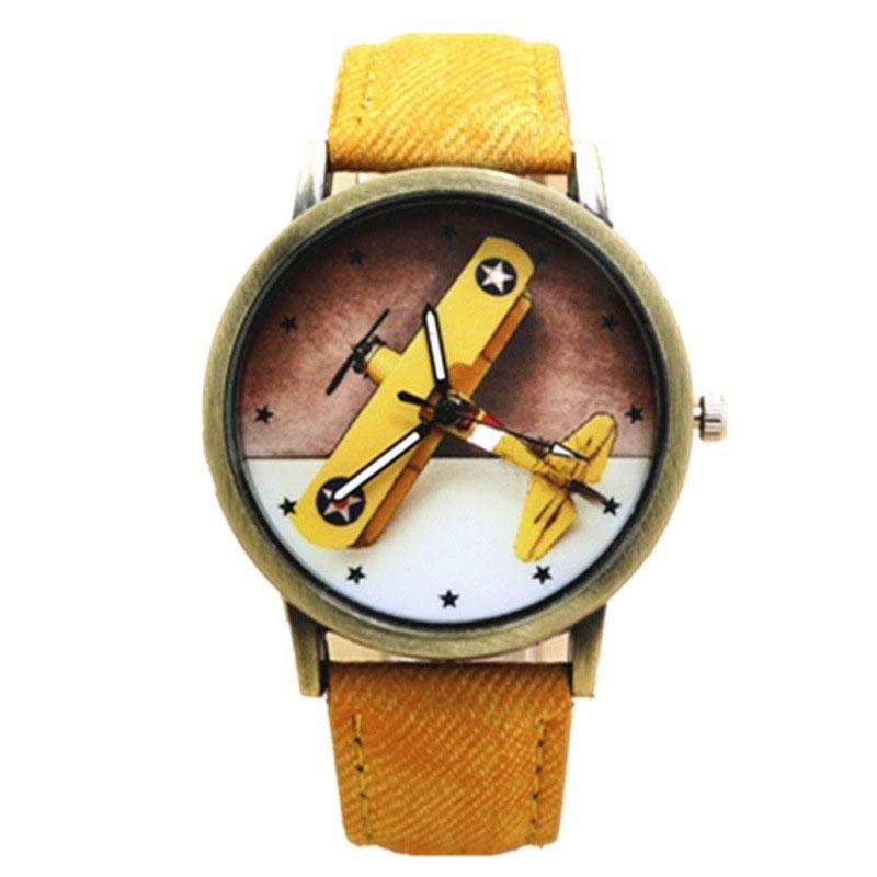 Nơi bán Retro Cute Girl Boy Kids Lovely Cartoon Aircraft Dial Analog Wrist Watch Gifts