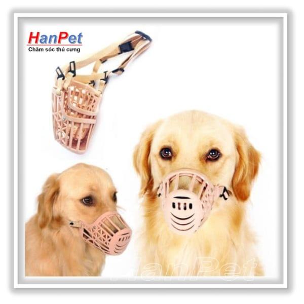 HCM-Rọ mõm chó 3-6kg - chất liệu nhựa dạng lưới (size 1)  606a / rọ mõm nhựa-HP10471TC