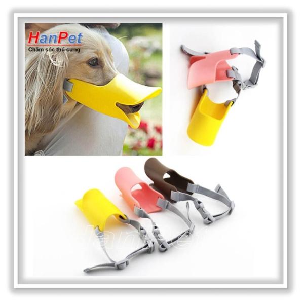 HCM-Rọ mõm chó hình mỏ vịt - nhựa dẻo (size lớn dùng cho chó 8-12kg)  608a-HP10483TC