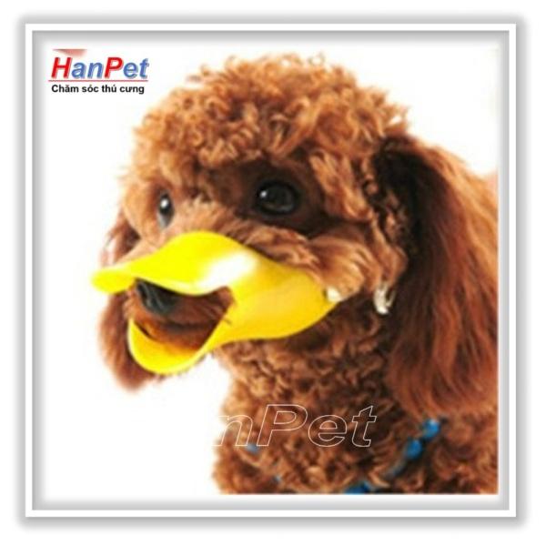 HN-Rọ mõm chó hình mỏ vịt size S - nhựa bé (size bé dùng cho chó 2-4kg) hanpet 608d