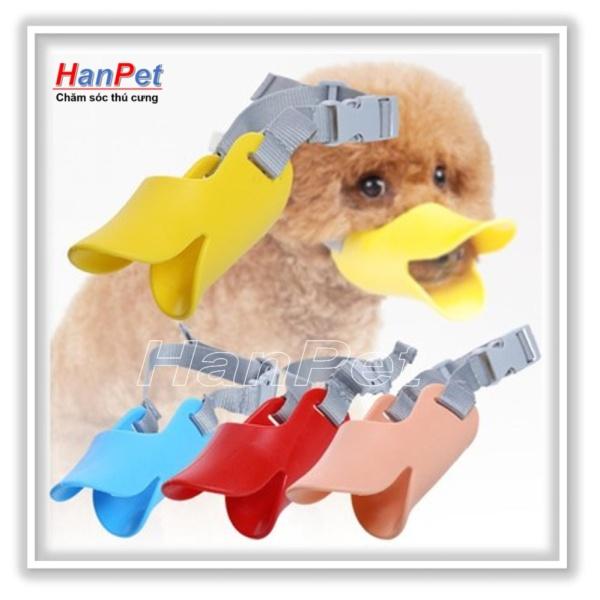 HN-Rọ mõm cho chó hình mỏ vịt size S - nhựa dẻo (size bé dùng cho chó 3-5kg) hanpet 608b