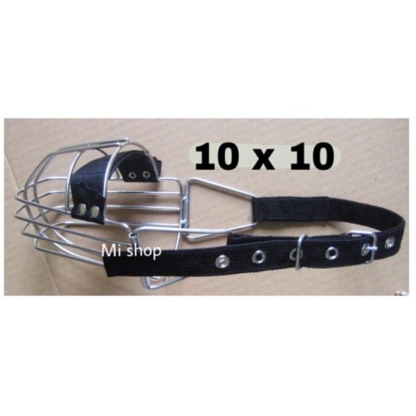 Rọ Mõm Chó Inox 10x10 Đai Dây Dù Vệ Sinh Và An Toàn Có Đệm