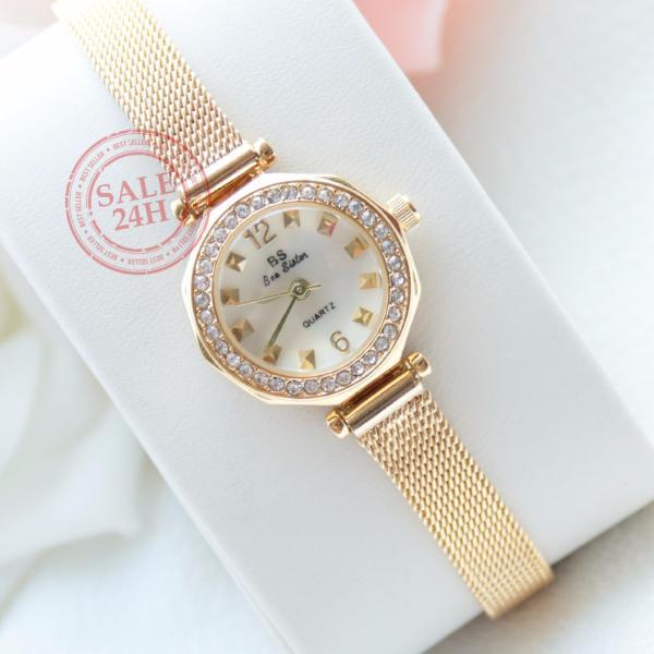 [SALE24h] Đồng hồ nữ đính đá thời trang cao cấp Bee Sister FA1419 ( gold )