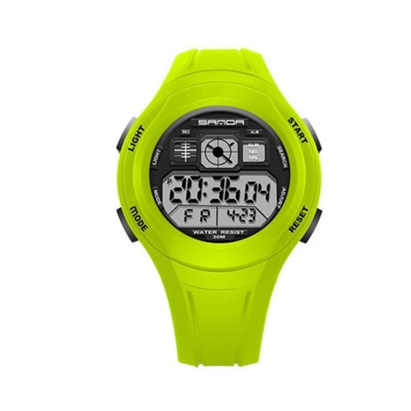 SANDA Đồng Hồ Trẻ Em Dễ Thương Đồng Hồ Trẻ Em Thể Thao Hoạt Hình cho Bé Gái Bé Trai Cao Su Trẻ Em Kỹ thuật số Đồng Hồ Nữ Reloj- quốc tế bán chạy