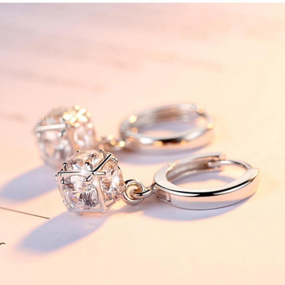 Bông Tai Nữ Bạc 925 Trái Châu đá Zircon Lấp Lánh Thời Trang Hàn Quốc Giá Sỉ Mẫu Mới Nhất Chất Lượng Cao Cấp SPE-ZRE179 Bất Ngờ Ưu Đãi Giá