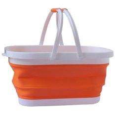 Shopping Market Picnic Fruit Veggie Folding Basket (orange) - Intl By Taopanda