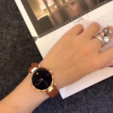 [SIÊU KHUYẾN MẠI] Đồng hồ nữ mặt kính vát 3D dây da lộn cao cấp G24-49