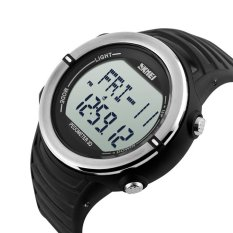 Bán Skmei 1111 Sports Digital Watch With Pedometer Heart Rate Function Water Resistant Silver Intl Trực Tuyến