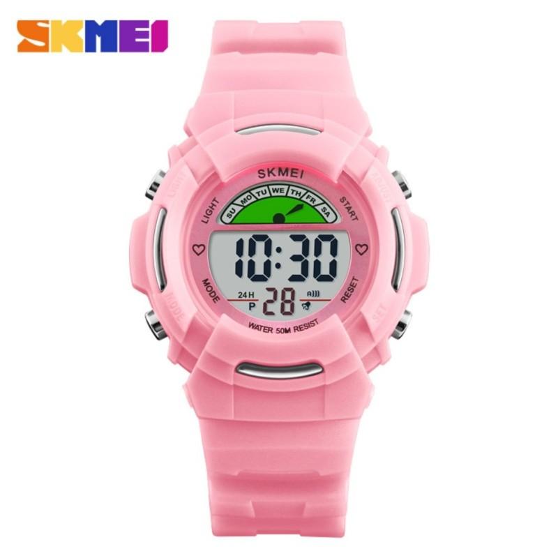 SKMEI 1272 Children Watches Fashion Alarm Watch Kids Back Light Waterproof Boy Digital Wristwatches - intl bán chạy