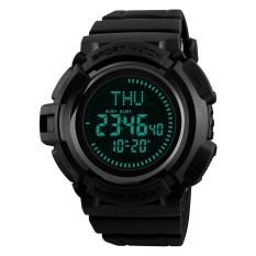 Giá Bán Skmei 1300 Men S 50M Waterproof Digital Sports Compass Watch With El Light Black Intl Mới Rẻ