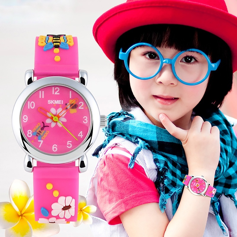 SKMEI Brand Watch Waterproof pointer jelly color male and female students watch fashion personality gift 1047 - intl bán chạy