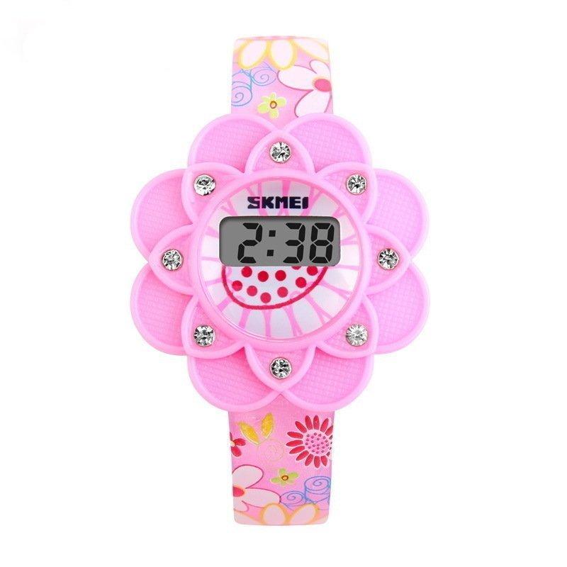 SKMEI Kid Digital Watch Flower Style Cute Wristwatch bán chạy
