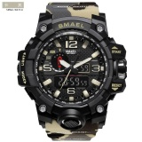 Giá Bán Smael 1545 Waterproof Camouflage Military Pu Digital Watch Led Digital Dual Display Electronic Watch Khaki Intl Smael