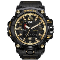 Bán Smael Watch Series Of Gold Jungle Luxury Style Outdoor Sports Mens Dual Display Electronics Watch 1545 Intl