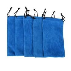 Hình ảnh Mềm mại Kính Ốp Lưng Túi Bảo Quản Túi Kính Mát Mắt Kính Vải Túi Túi Màu Xanh-quốc tế
