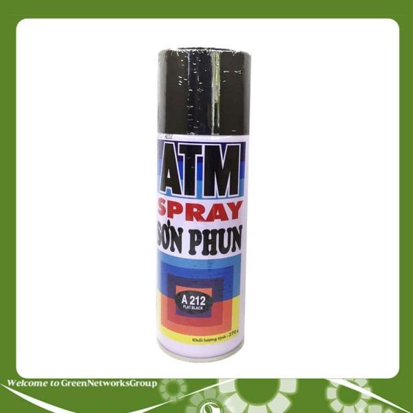 [HCM]Sơn xịt ATM Spary A212 (đen khói đen mờ)