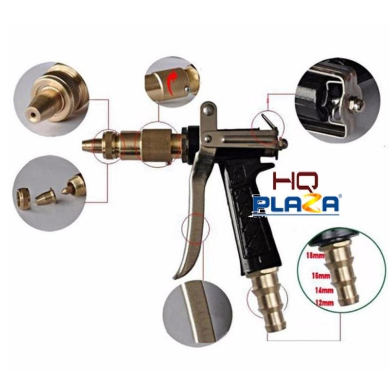 Súng xịt rửa chuyên nghiệp tăng áp lực nước 300% GDX-6033 tặng đèn led gắn hơi xe K131