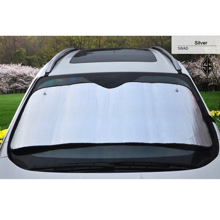 Tấm che chống nắng phản quang 5 lớp, phủ bạc 2 mặt cách nhiệt tuyệt đối cho kính trước ôtô, xe hơi, xe tải gấp gọn cỡ lớn 145x70cm _ EX013 - 2