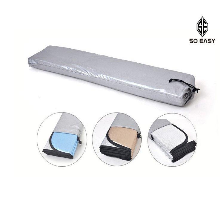 Tấm che chống nắng phản quang 5 lớp, phủ bạc 2 mặt cách nhiệt tuyệt đối cho kính trước ôtô, xe hơi, xe tải gấp gọn cỡ lớn 145x70cm _ EX013 - 4