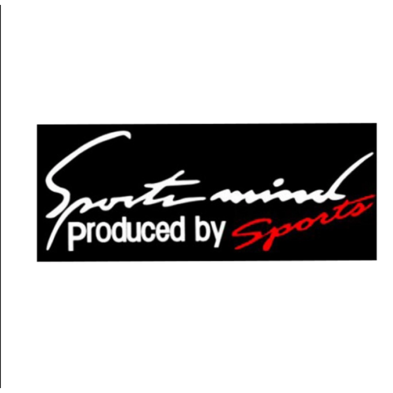Tem dán Sport mind lên nắp capo ô tô (Trắng)