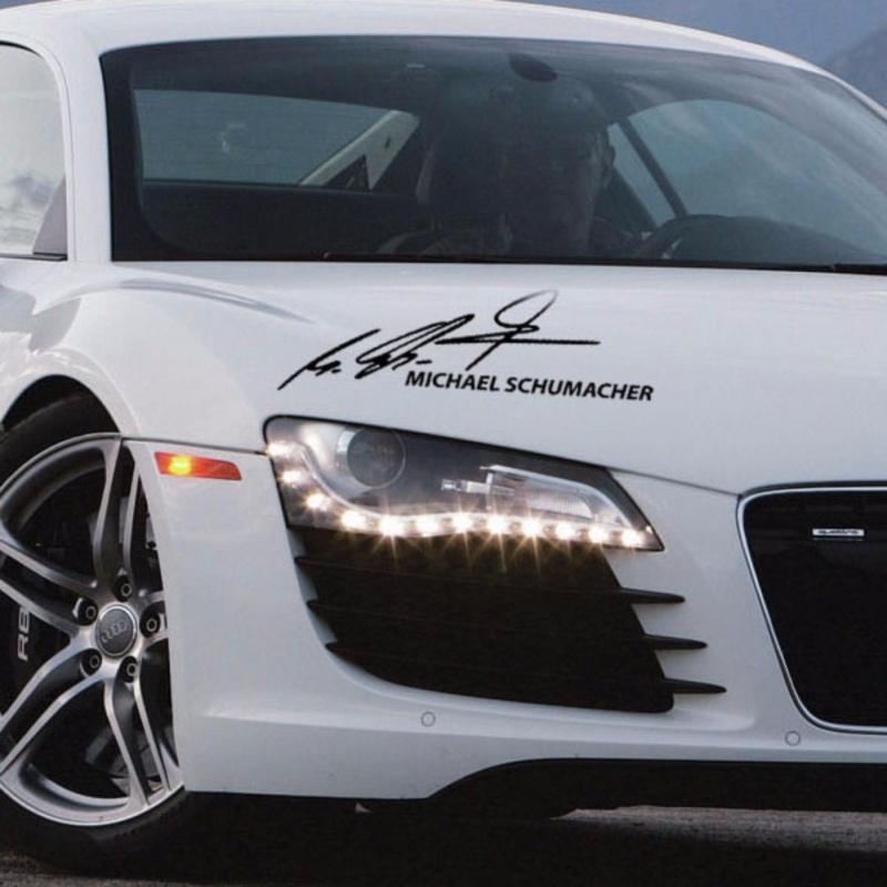Tem dán ô tô thể thao chữ ký MICHAEL SHUMACHER (Đen)