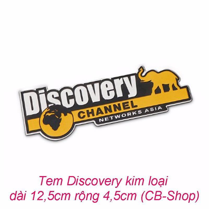 Tem Dán trang trí ô tô Discovery kim loại (đen phối vàng)