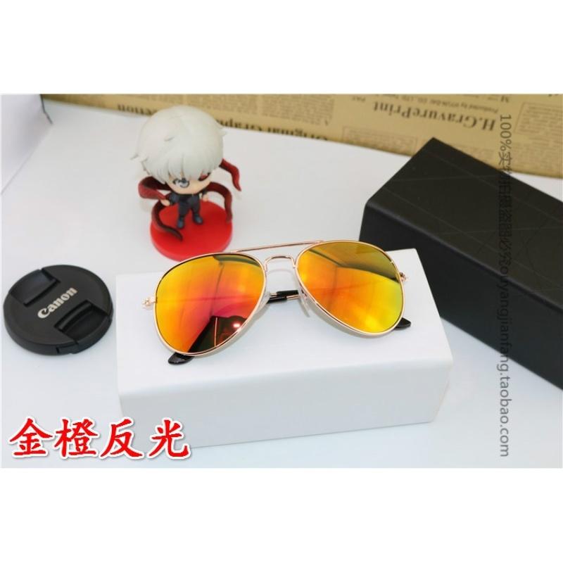 Mua The tide of childrens sunglasses sunglasses boy girl Sunglasses UV metallic glasses toad mirror shade (Orange) in children - intl