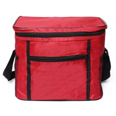 Giá bán Thermal Outdoor Cooler Lunch Box Insulated Picnic Bag Camping Hiking Portable Red - intl