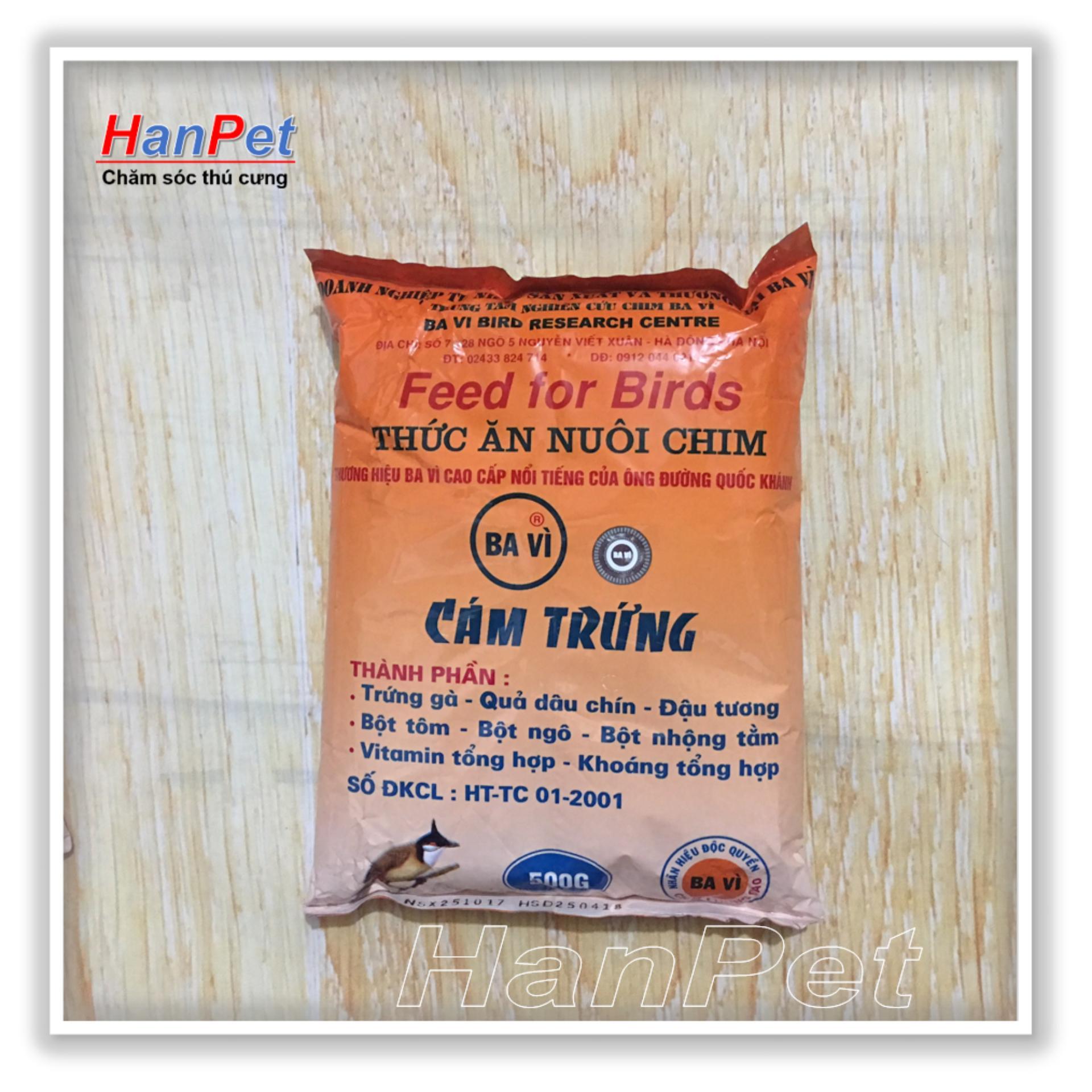 Miễn Phí Hcm>129k -Thức ăn Cho Chim(cám Trứng Bavi - 500gr) (hanpet 214)-Hp10406tc By Hanpet.hcm.